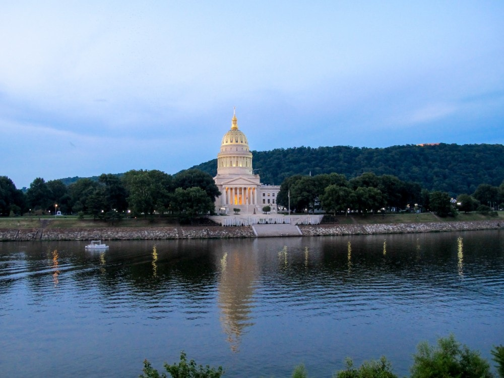 West Virginia state capital building in Charleston