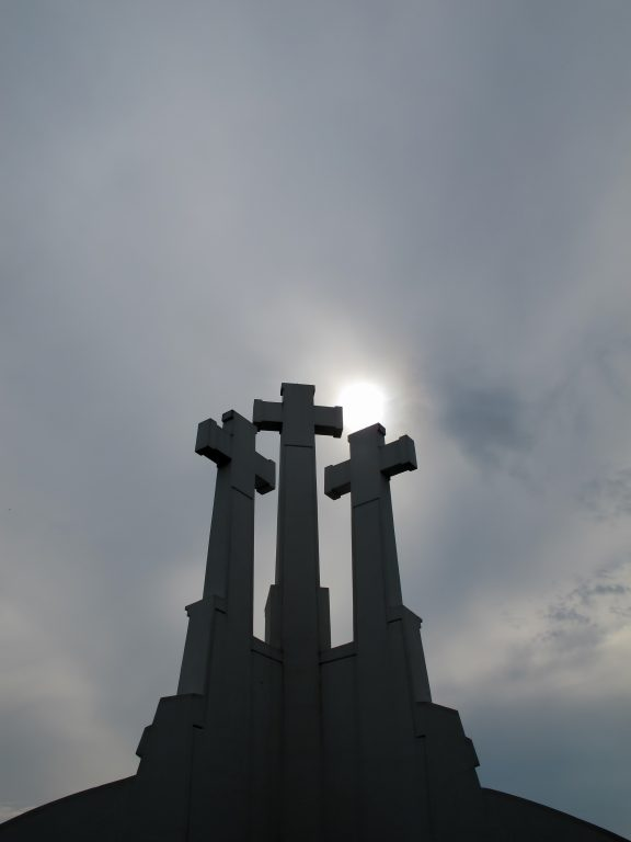 Hill of the Three Crosses (or Trys Kryziai) in Vilnius