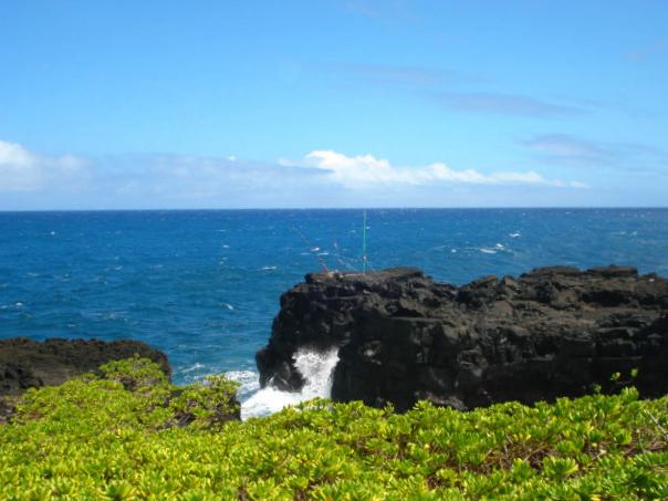 Seaside in Kalapana, Hawaii