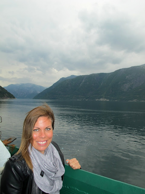 Me on the Hardangerfjord, Norway