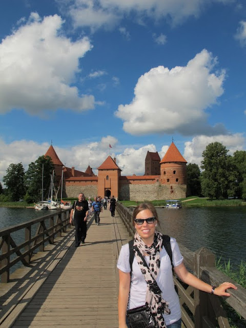 Me standing in front of the Trakai Castle outside of Vilnius, Lithuania