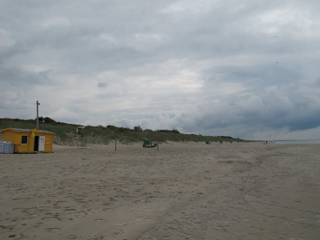 Grey day at the beach in Smiltyne, Lithuania