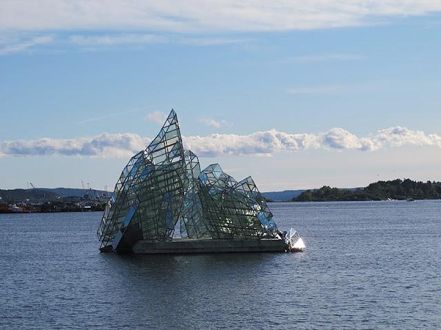 Iceberg sculpture in the Oslofjord near the Opera House