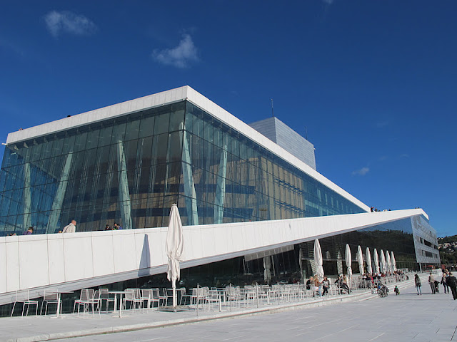 Side view of the Oslo Opera House
