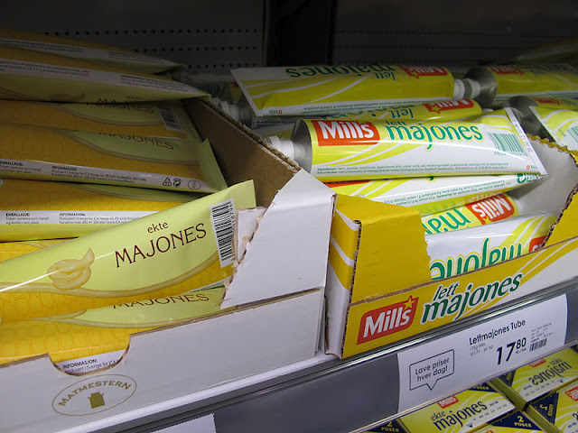 Tubed mayonnaise in Norway