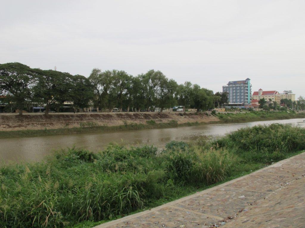 The river in Battambang, Cambodia