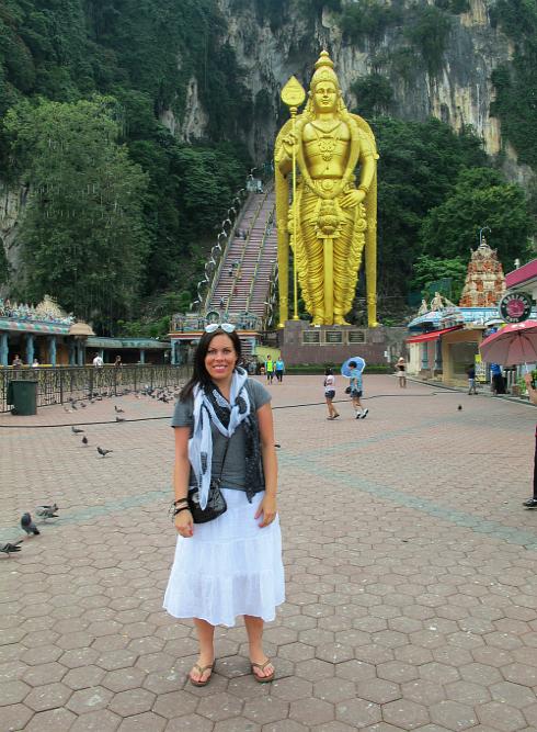Me at the Batu Caves in Kuala Lumpur, Malaysia