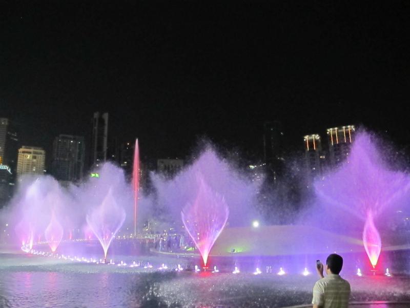 Fountains and lights in Kuala Lumpur, Malaysia