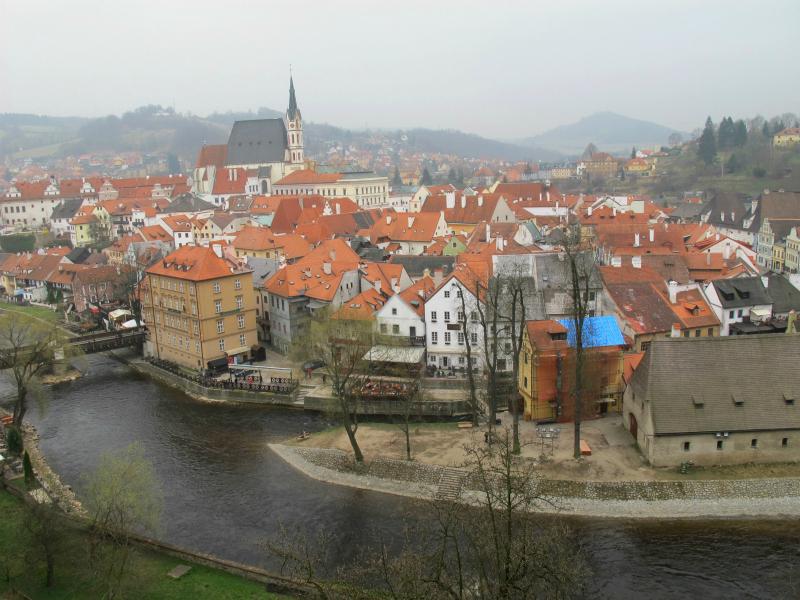 Overlooking Cesky Krumlov from the castle