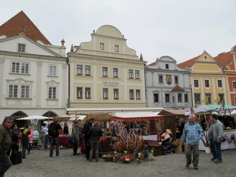A square in Cesky Krumlov