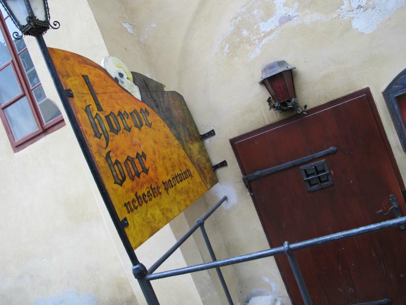 A horror bar in Cesky Krumlov