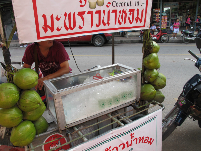 Fresh coconuts in Chiang Mai