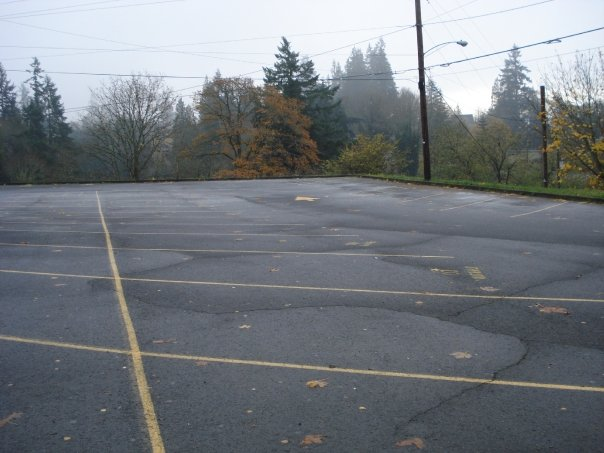 Kalama, Washington and the school from Twilight's parking lot