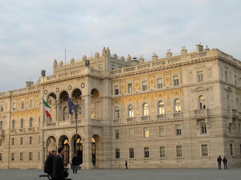 Piazza Unità d'Italia in Trieste, Italy