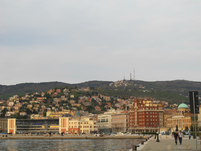 Waterfront in Trieste, Italy