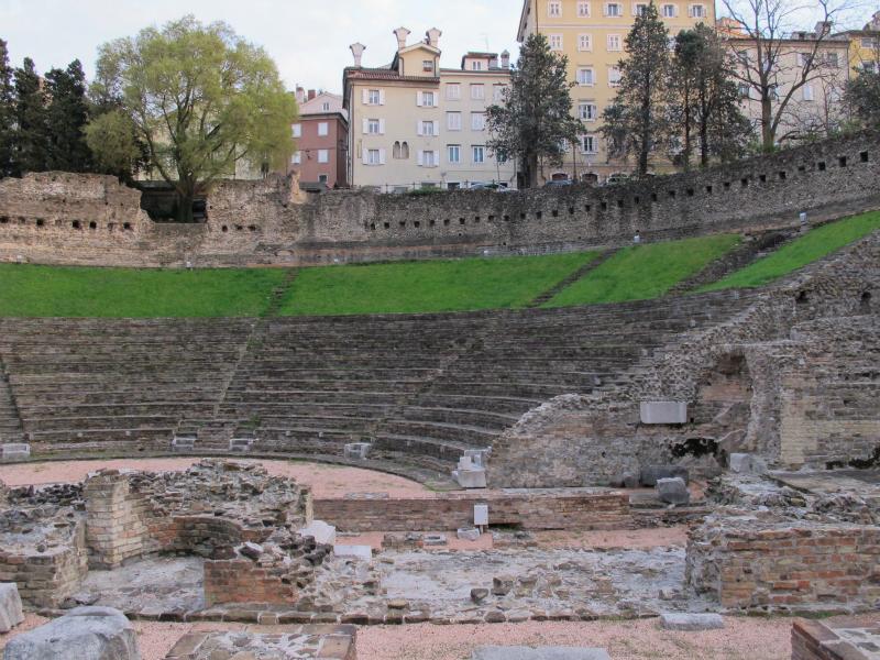 Roman Theatre in Trieste, Italy