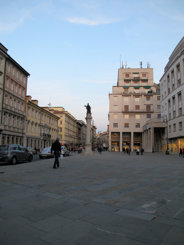 The streets of Trieste, Italy