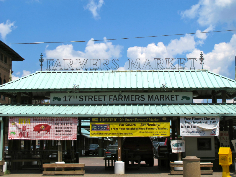 17th street Farmer's Market in Richmond, Virginia