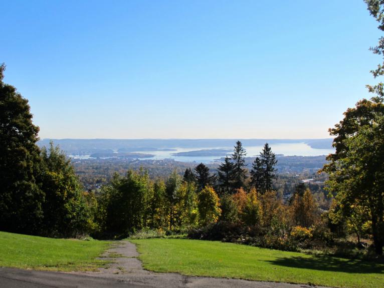 Overlooking Oslo, Norway from Holmenkollen