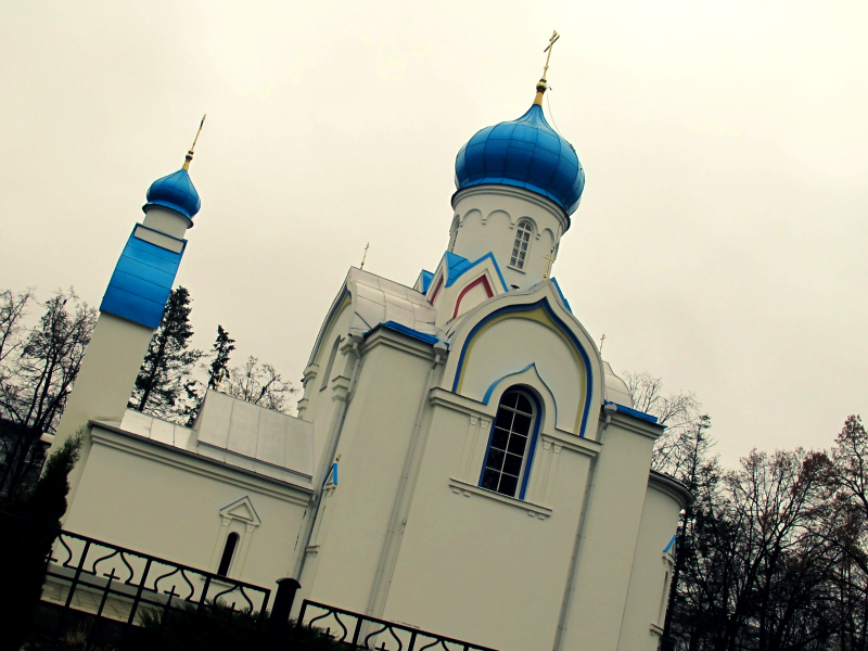 Memorial to the St. Alexander Nevsky Cathedral in Daugavpils, Latvia