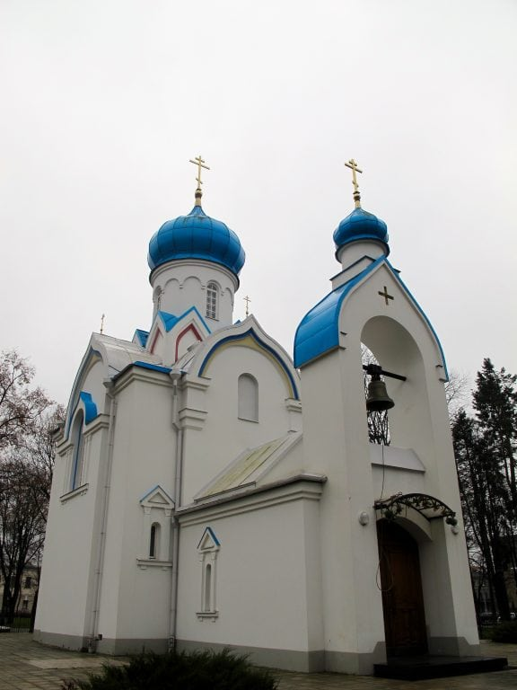St. Alexander Nevsky Russian Orthodox Chapel in Daugavpils, Latvia