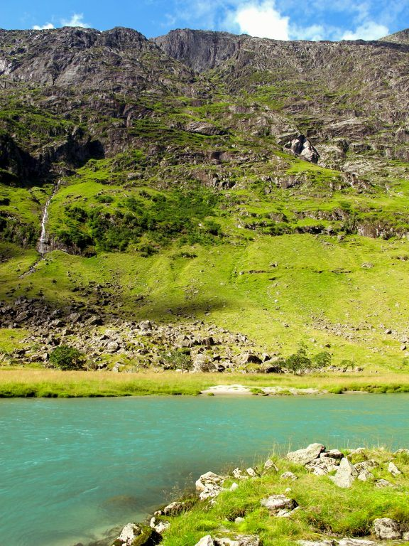 Glacial lake on the road to Sandane, Norway