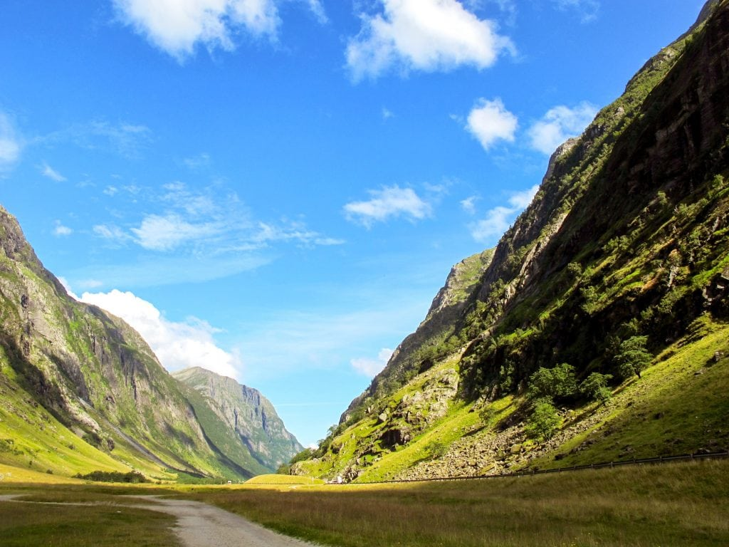 The road to Sandane, Norway