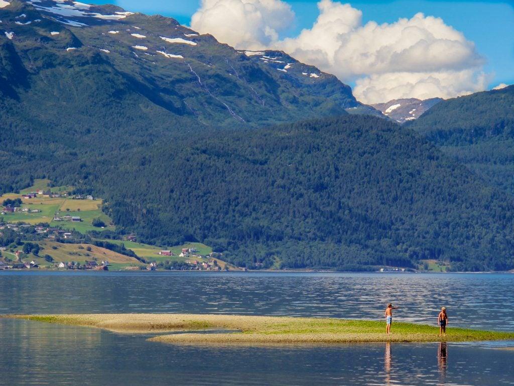 Kids playing in Sandane, Norway