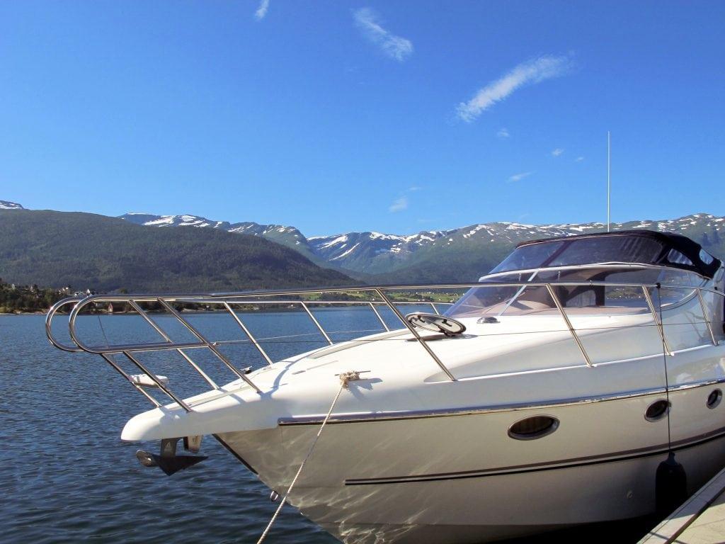A boat in Sandane, Norway