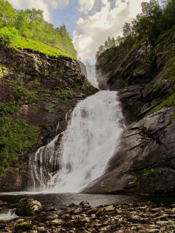 Waterfall on the way to Sandane, Norway