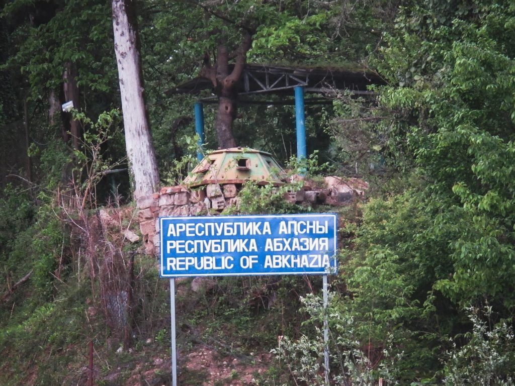Border of Abkhazia welcome sign