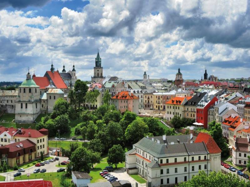 1 z13214628V,Lublin-stare-miasto--Panorama-Lublina---widac-kosc
