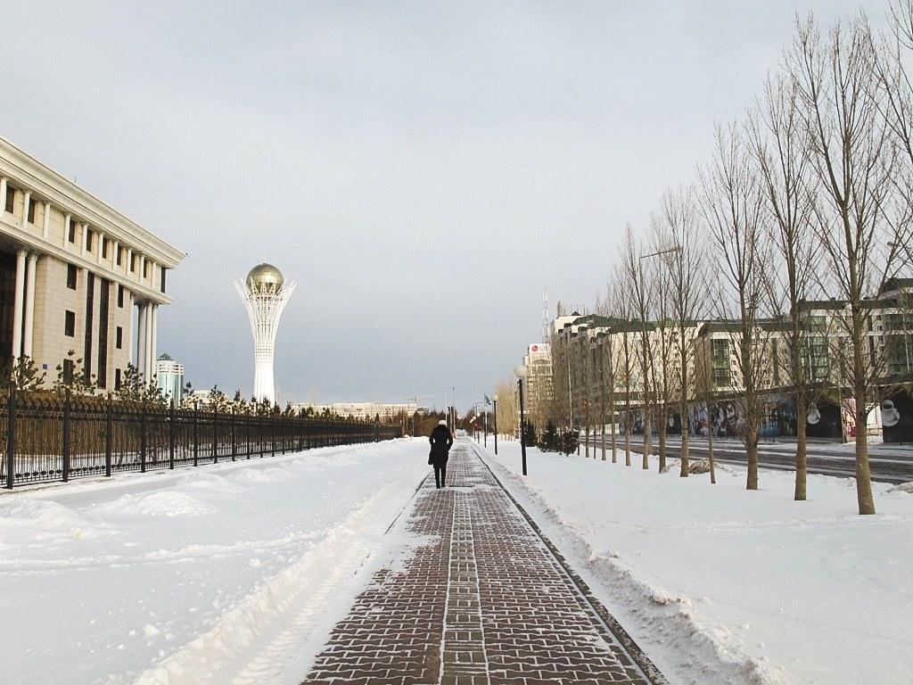 Baiterek Tower in Astana, Kazakhstan