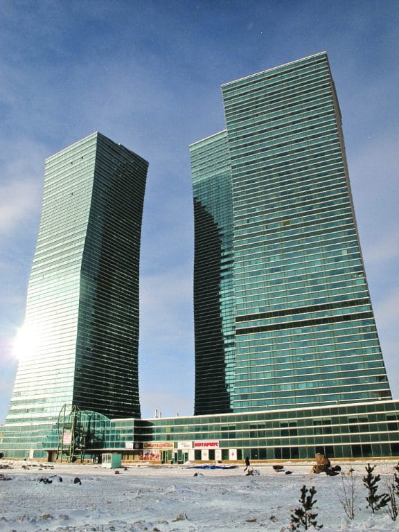 Northern Lights building in Astana, Kazakhstan