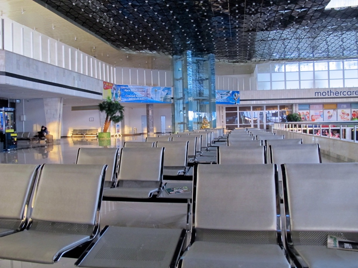 Karaganda, Kazakhstan: Doing Nothing in a Fascinating City airport empty
