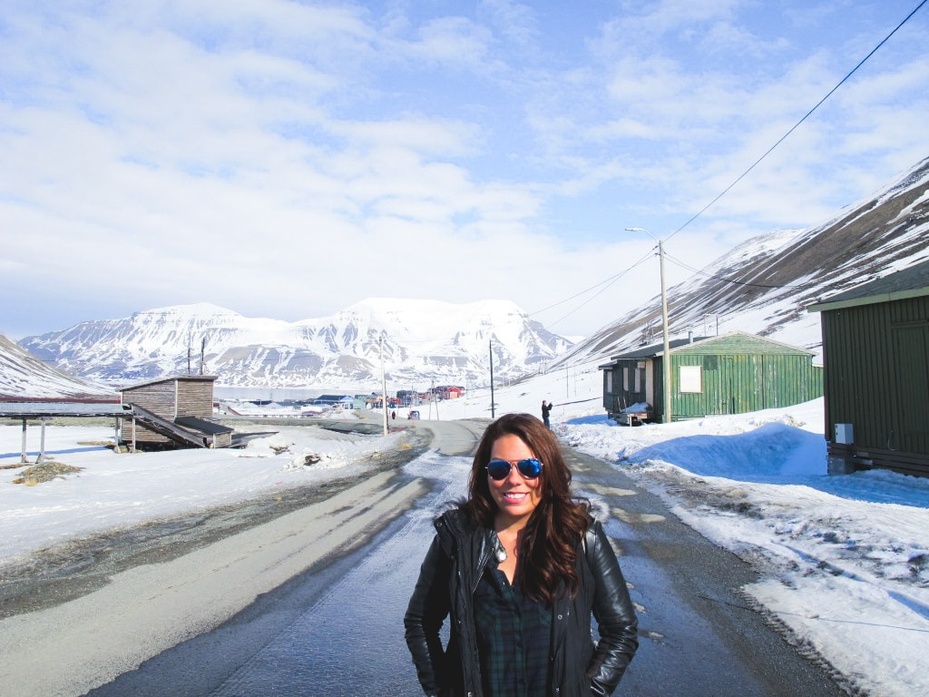 Me in Longyearbyen in Svalbard, Norway
