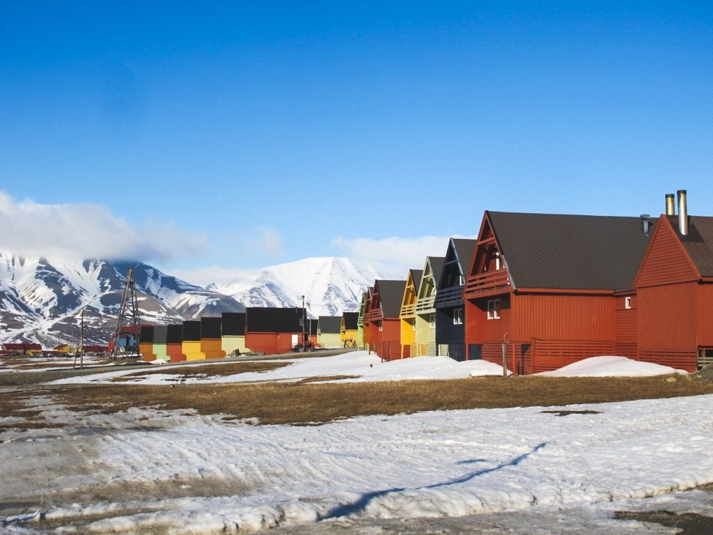 Longyearbyen in Svalbard, Norway