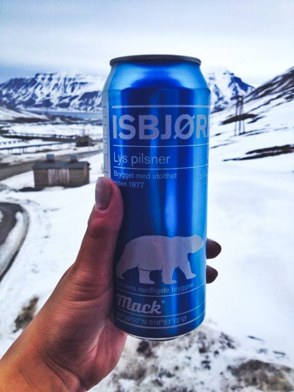 Mack beer in Longyearbyen in Svalbard, Norway
