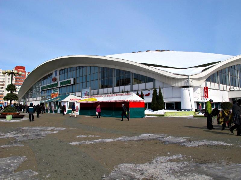 Outside the Komarovsky Market in Minsk