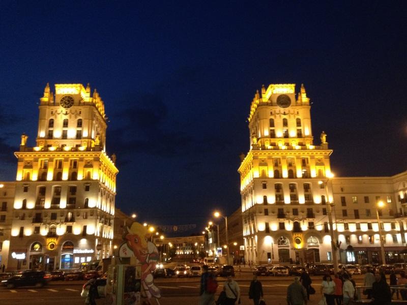Night time in Minsk