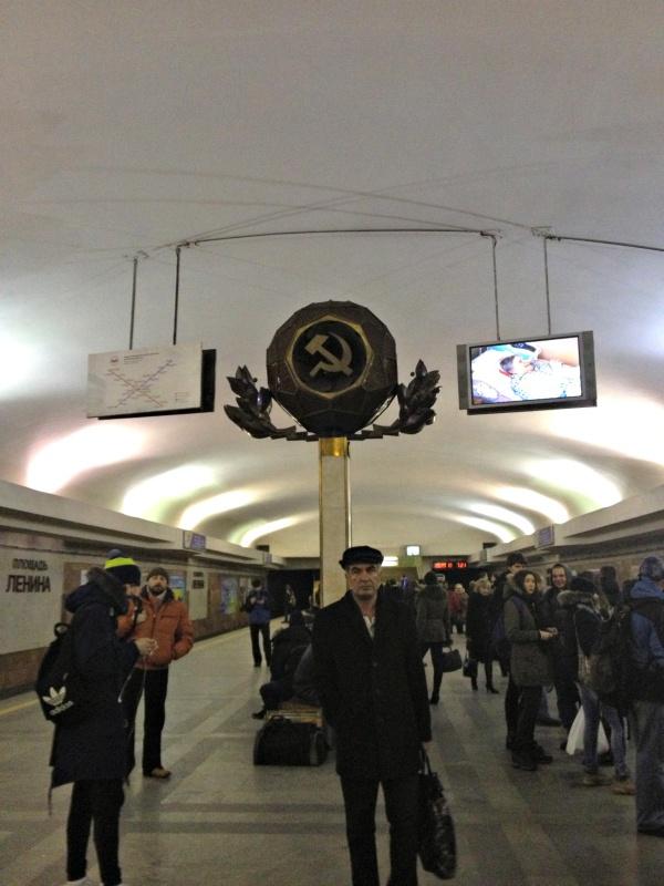 Soviet metro in Minsk, Belarus