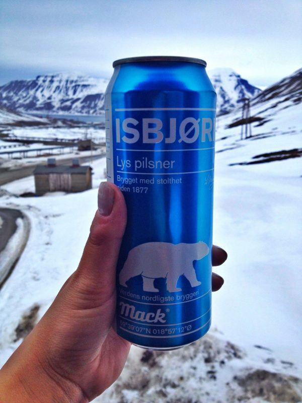 Beer on the top of the world from Mack Øl in Longyearbyen, Svalbard