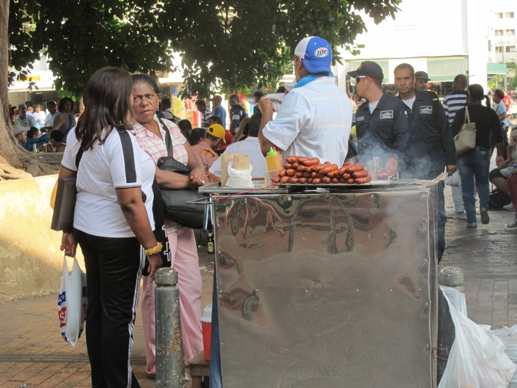 Street food in Cartagena, Colombia