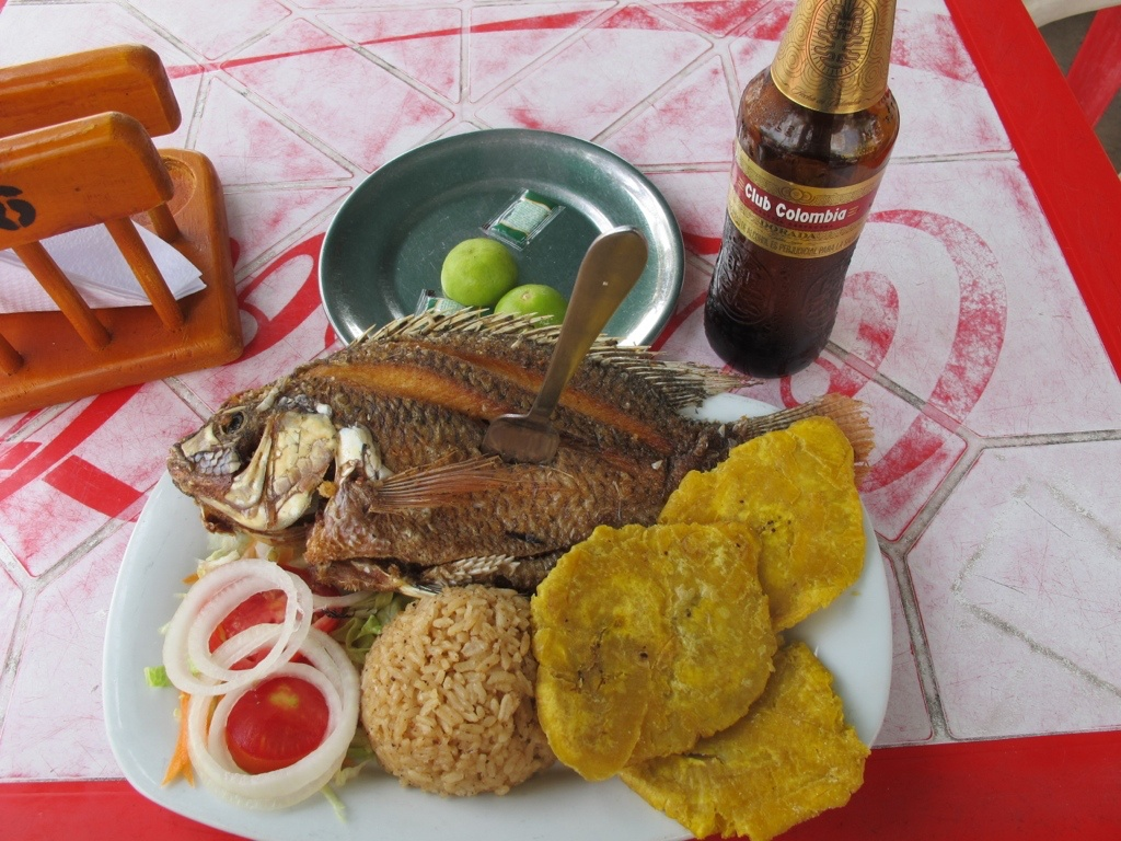 Fresh fish in Cartagena, Colombia