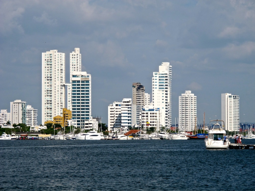 From a boat in Cartagena, Colombia