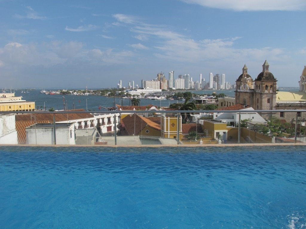 View from Movich Hotel in Cartagena, Colombia