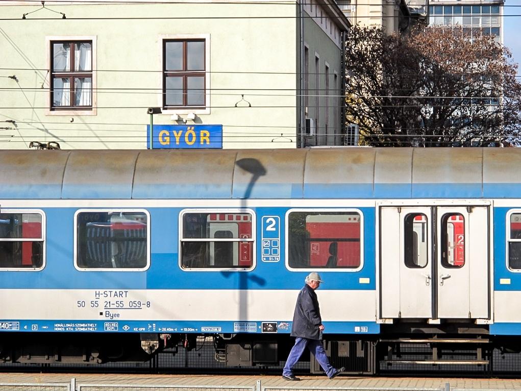 Gyor, Hungary train station