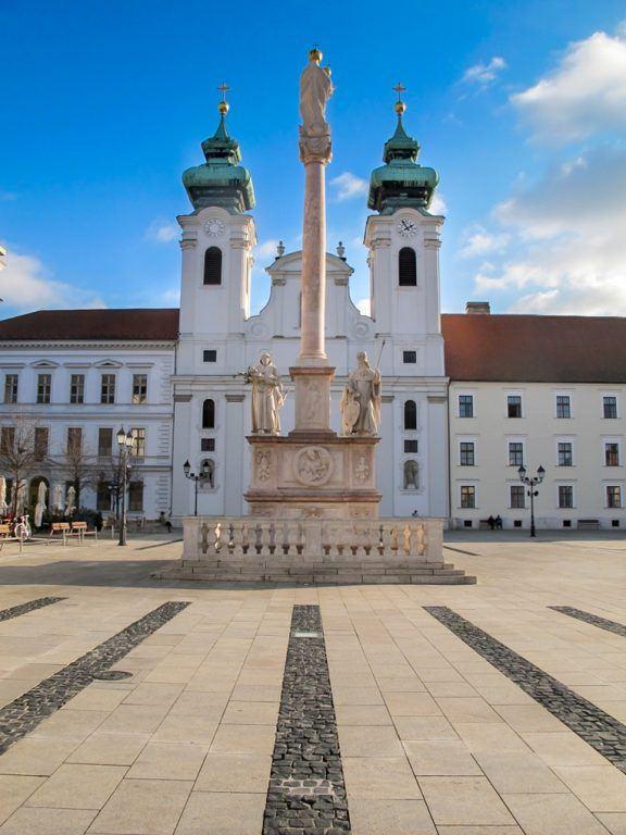 Szechenyi Square in Gyor, Hungary