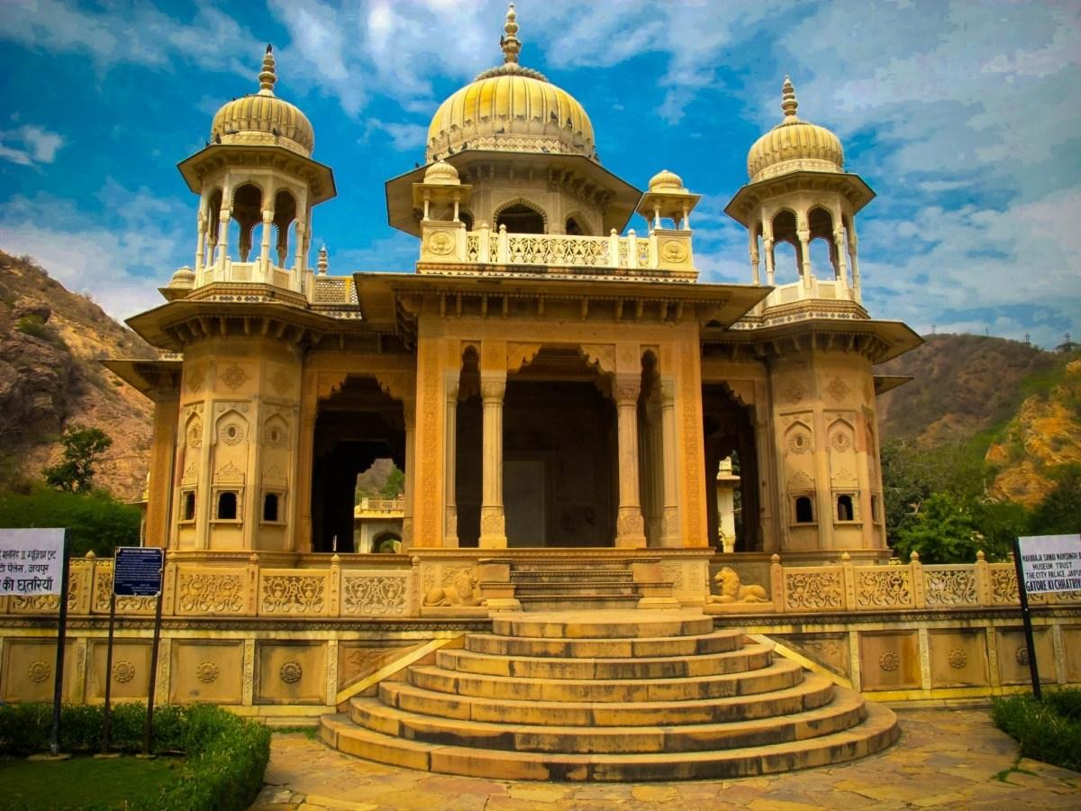 Royal Gaitor Tumbas in Jaipur, India