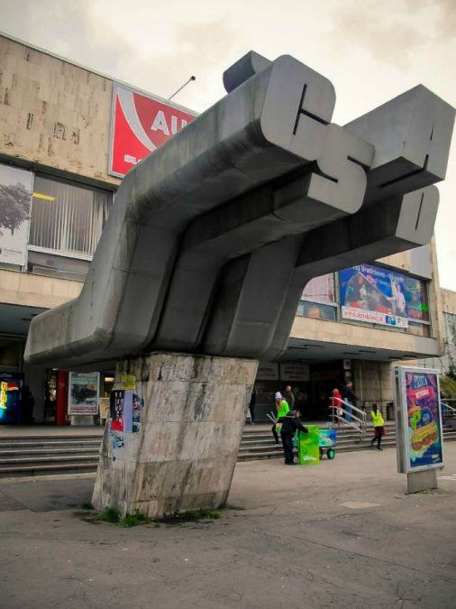 Bratislava Bus Station in Slovakia